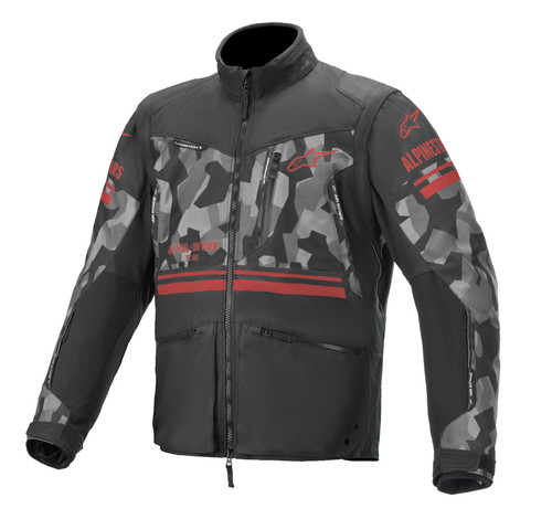 Alpienstars Venture R Jacket Grey Camo Red Fluo