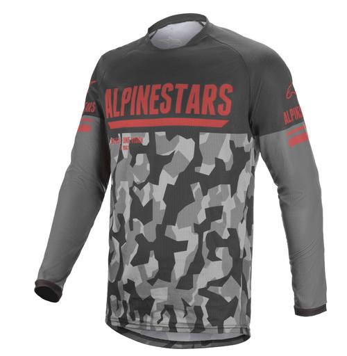 Alpinestars Venture R Jersey Grey Camo Red Fluo