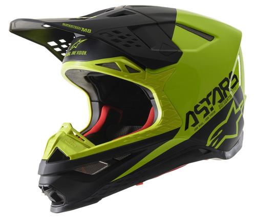 Alpinestars Supertech S-M8 MX Helmet Echo Black/Yellow Fluo