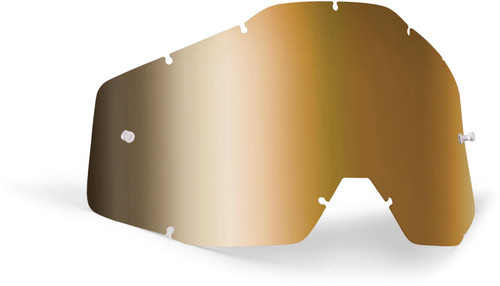 FMF Goggles POWERBOMB/POWERCORE Replacement Lens Anti-Fog True Gold Mirror