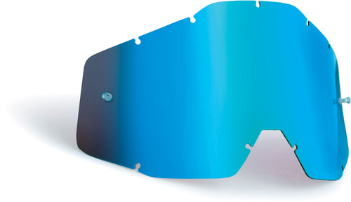 FMF Goggles POWERBOMB/POWERCORE Replacement Lens Anti-Fog Blue Mirror/Blue