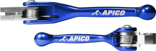 APICO TS0007U-BLC0016U FLEXI LEVER (PAIR) YAMAHA YZ125/250 15-19, YZ250F/450F 09-19, YZ450FX 2019   BLUE