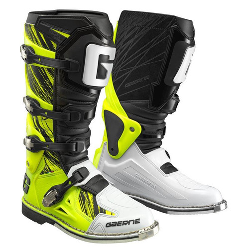 Gaerne Fastback MX Boots Yellow Fluo