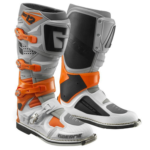 Gaerne SG12 Adult MX Boots Orange/Grey/White