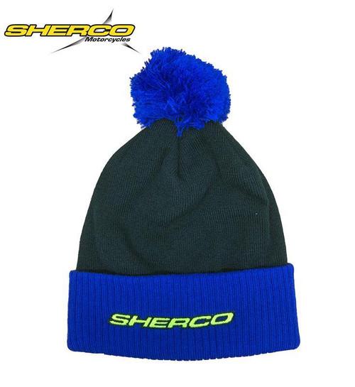 SHERCO WOOLY BEANIE HAT - BLACK/BLUE