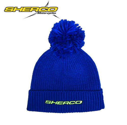 SHERCO WOOLY BEANIE HAT - BLUE