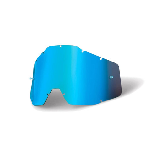 100 Percent RACECRAFT/ACCURI/STRATA Replacement Lens Blue Mirror/Blue Anti-Fog