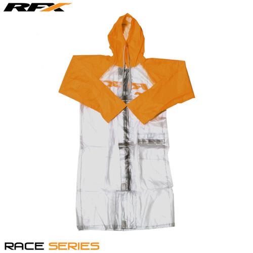 RFX Race Rain Coat Long Clear/Orange