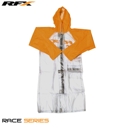 RFX Race Rain Coat Long Clear/Orange