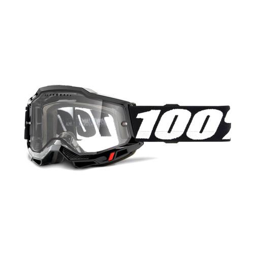 100 Percent ACCURI 2 Enduro MTB Goggle Black - Clear Vented Dual Lens FA20 Adult