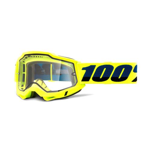100 Percent ACCURI 2 Enduro MTB Goggle Yellow - Clear Vented Dual Lens FA20 Adult
