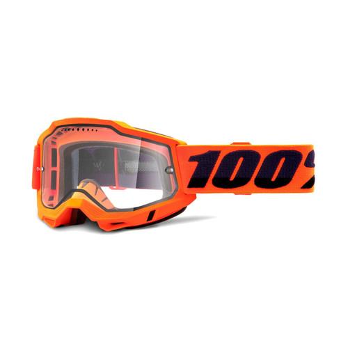 100 Percent ACCURI 2 Enduro MTB Goggle Orange - Clear Vented Dual Lens FA20 Adult