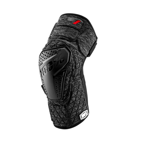 100% Surpass Adult Knee Guards Grey Heather/ Black