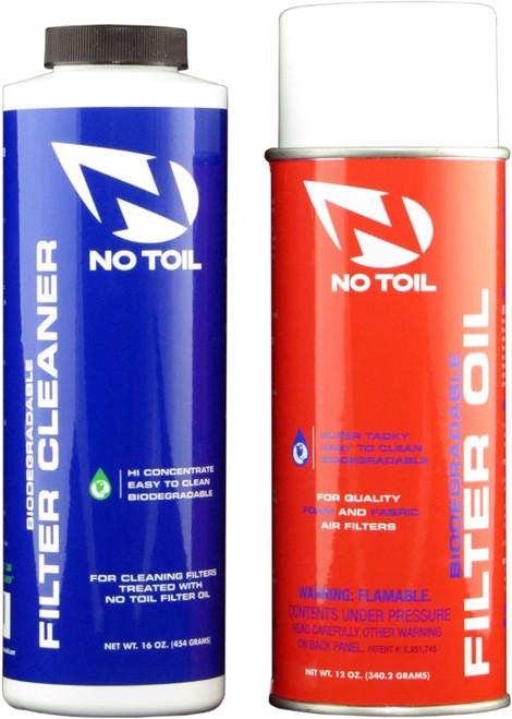 No Toil Aerosol oil 12 oz, cleaner 16 oz, aerosol twin-pack