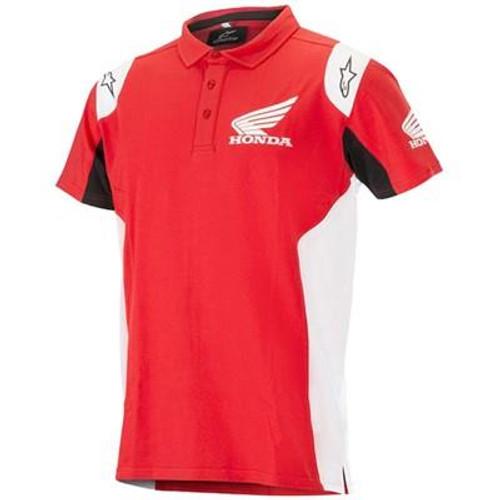 Alpinestars Men's Adult Casual Short Sleeved Polo Shirt Honda Red