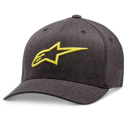 Alpinestars Adult Casual Cap/Hat Ageless Curve Charcoal/Yellow