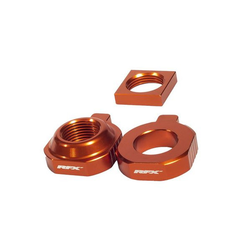 RFX Pro 2 Rear Axle Adjuster Blocks (Orange) KTM SX85 15-20