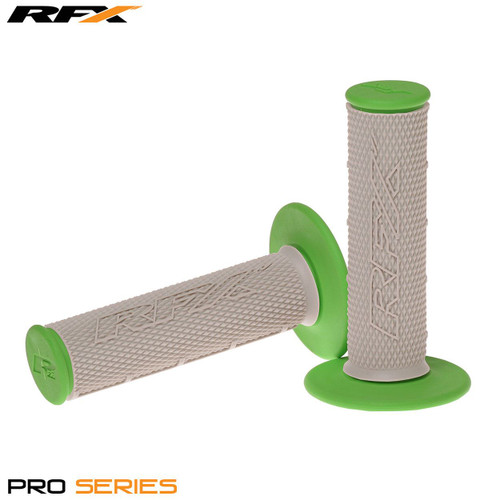 RFX Pro Series Dual Compound Grips Grey Centre (Grey/Green) Pair