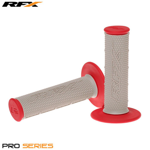 RFX Pro Series Dual Compound Grips Grey Centre (Grey/Red) Pair