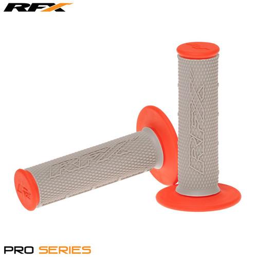 RFX Pro Series Dual Compound Grips Grey Centre (Grey/Orange) Pair