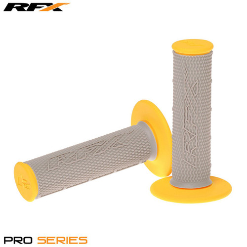 RFX Pro Series Dual Compound Grips Grey Centre (Grey/Yellow) Pair
