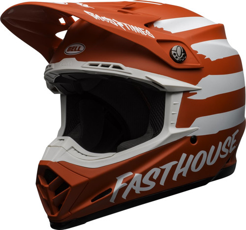 2020 Bell Moto-9 MIPS MX Helmet Fasthouse Signia Red/White