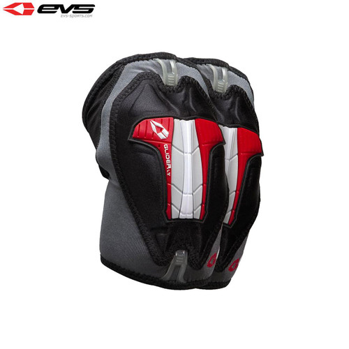 EVS Glider Lite Elbow Guards Adult (Black/Red) Pair Size Small