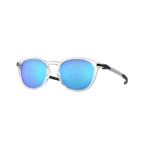 Oakley Pitchman R Sunglasses Adult (Polished Clear) Prizm Sapphire Lens