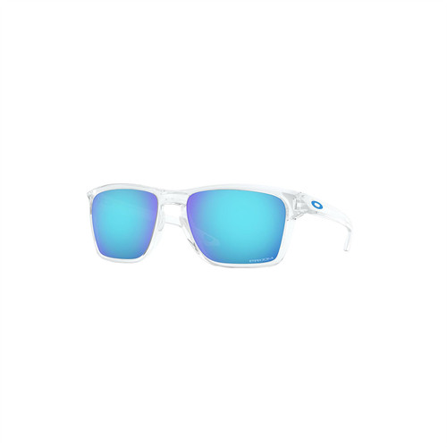 Oakley Sylas Sunglasses (Polished Clear) Prizm Sapphire Lens