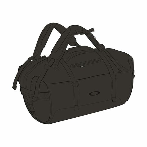 Oakley Luggage SP20 Training Outdoor Duffle Bag (Blackout)
