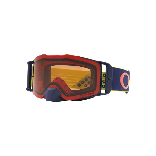 Oakley Front Line MX Goggle (Heritage B1B Red Yellow) Prizm MX Bronze Lens