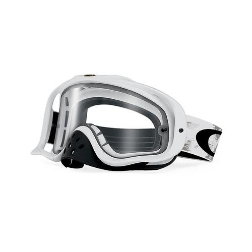 Oakley Crowbar MX Goggle (Matt White Speed) Dual Clear Lens