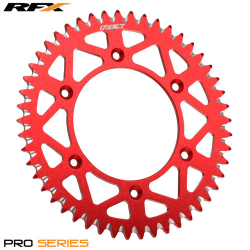 RFX Pro Series Elite Rear Sprocket Husqvarna 125-610 Up To 2013 Gas Gas EC125-300 All Years (Red 52T
