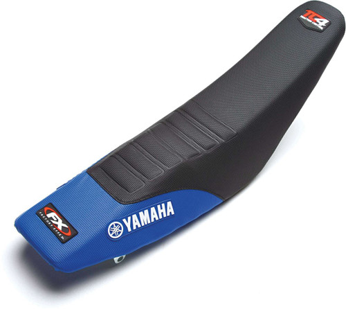 Factory Effex TC4 Seat Cover (Without Bump) Blue/Black Yamaha