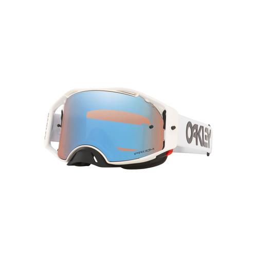 Oakley Airbrake MX Goggle (Factory Pilot White) Prizm MX Sapphire Lens