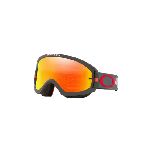 Oakley O Frame 2.0 Pro Youth MX Goggle (TLD Checkerboard Red) Fire Iridium Lens