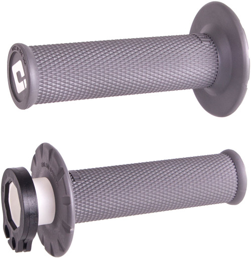 ODI No-Waffle MX V2 Lock-On Grip Graphite