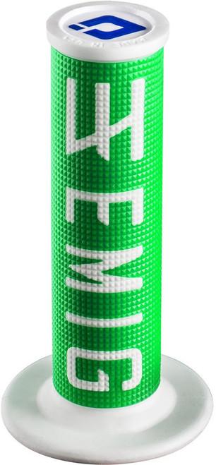ODI Emig Racing Lock-On Grip 4-Stroke green / white