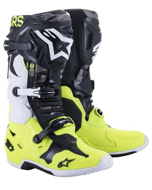 Alpinestars Tech 10 AMS Limited Edition Motocross Boots Grey/Yellow Fluo/Black