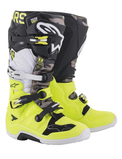 Alpinestars Tech 7 2021Limited Edition Motocross Boots AMS Grey/Yellow Fluo/Black