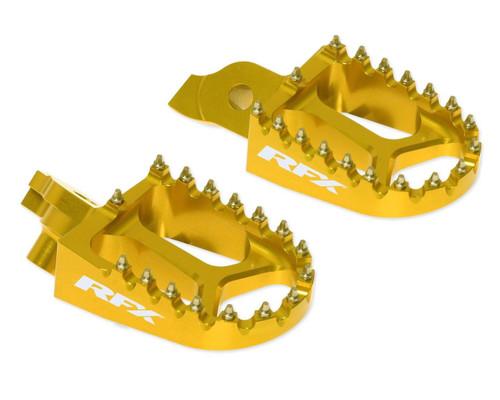 RFX Pro Series Footpegs Yellow Suzuki