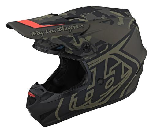 TLD 2021 GP Adult MX Helmet Overload Camo Army