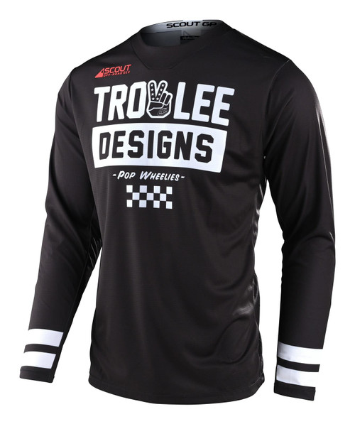 TLD 2021 Adult GP  Off-Road Jersey Scout Peace & Wheelies Black
