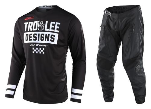 TLD 2022 Adult Scout GP Combo Peace & Wheelies Black