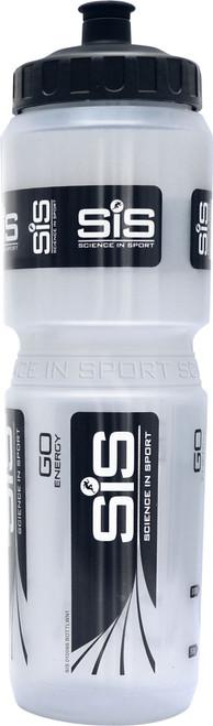 Science In Sport Clear Branded Bike-Fit Water Bottle Wide Top 1000ml