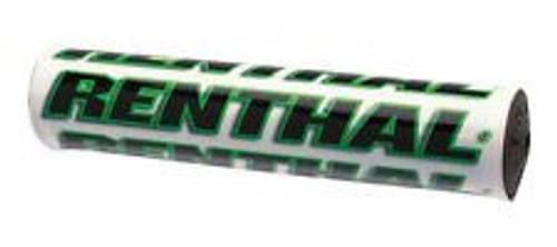 """Renthal Mini SX Bar Pad 8.5"""" White/Green"""