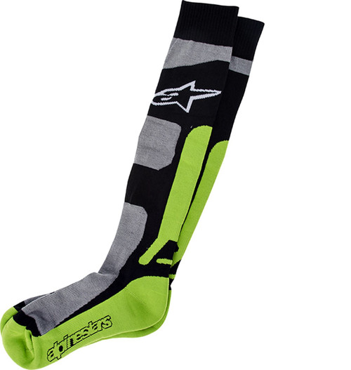 Alpinestars Tech Coolmax Socks Grey/Black/Green
