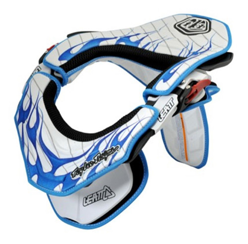 Leatt Pad Kit Troy Lee Designs Flame White/Blue