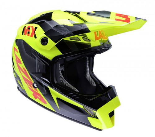 2015 Lazer MX-8 Helmet Pure Glass Geopop Yellow/Black/Red