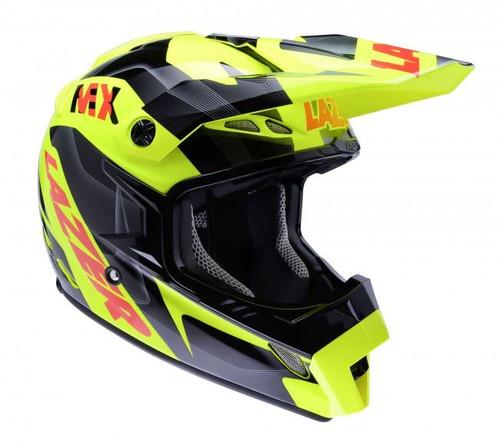 2015 Lazer MX-8 Helmet Pure Glass Geopop Yellow/Black/Red